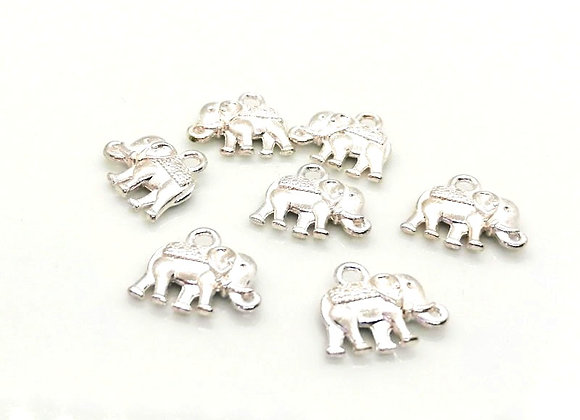 Vintage Style Elephant Charm Pack of 6