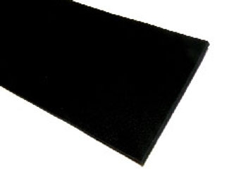 Italian Leather Strip - Black Rustic 2mm