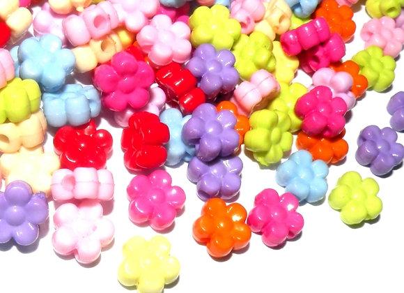 Bright Flower Bead Pack of 50