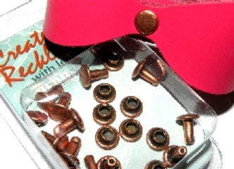 The Beadsmith Create Recklessly Antique Copper 7mm Cap/Post Rivet Pack