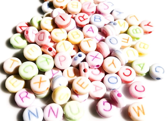 "Craft Style Acrylic Letter Beads ""W"""
