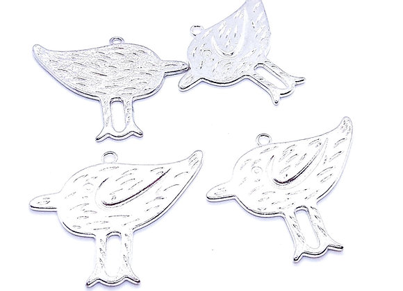 The Bird! Large Metal Charm Pack of 4