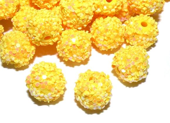 Yellow Snowflake Bead