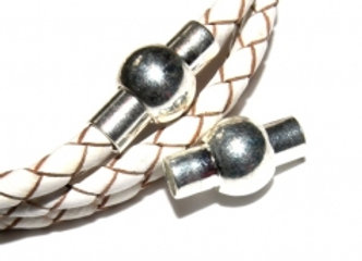 Round Glue-In Magnetic Clasp - 4mm Hole