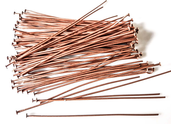 Headpins Red Copper 5.5cm Pack of 100
