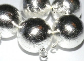 Silver Copper Round Brushed Effect Charm/Pendant