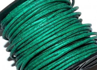 Distressed Green Indian Round Leather 1mm