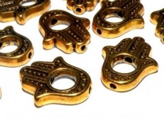 Tibetan Style Hamza Hand Bead! Gold