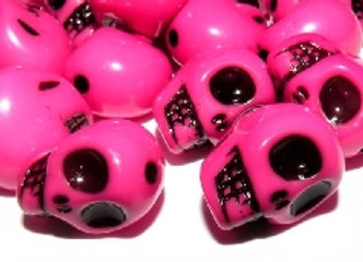 Skull Beads Pack of 10 - Colour Choice