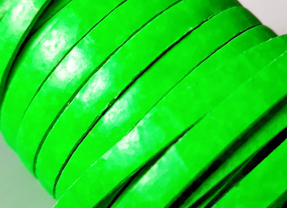 Neon Green Flat Leather 5mm