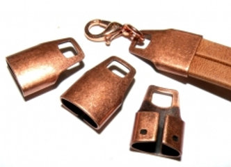 Large Copper Cord Ends 15x10mm - Pack Of 8