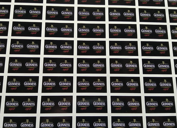 Fun Novelty Craft Stickers - Guinness- Pack of 50