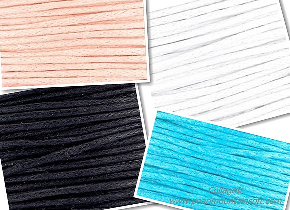 Waxed Cord 1mm - Choice of Colours