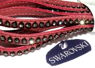 Swarovski Crystal Flat Leather - Vintage Rose Bracelet Strip