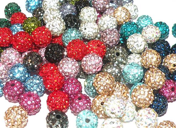 Grade A Crystal Shamballa Clay Bead 10mm Choice of Colours