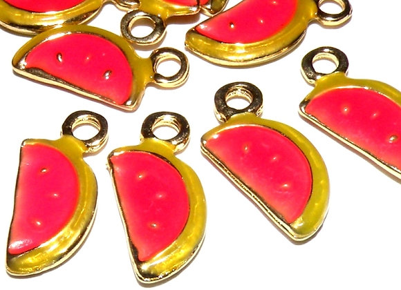 Enamelled Metal Watermelon Charm