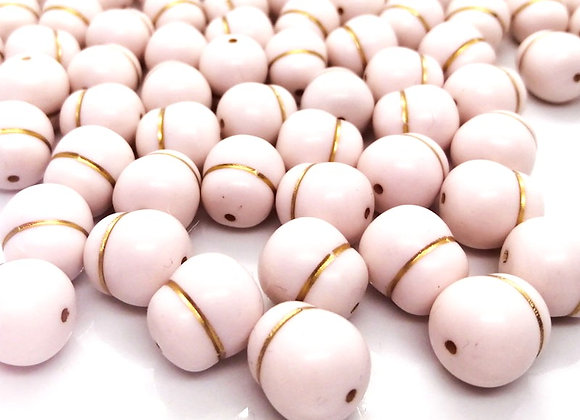 White/Gold Nugget Bead Pack of 10
