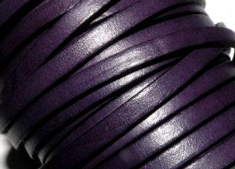 Purple Flat Leather 5mm