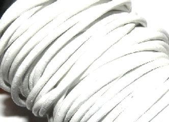 White Indian Round Leather 2mm