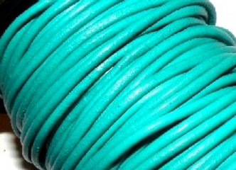 Turquoise Indian Round Leather 1mm