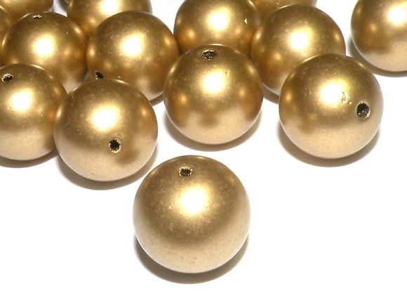 Gold round bead for jewellery making