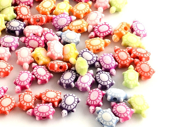 Craft Style Tortoise Beads Mix - Pack of 50