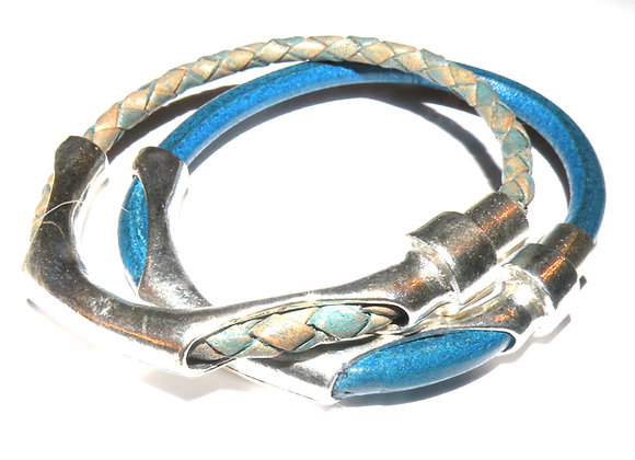 Magnetic bangle bar for leather cord, jewellery making bracelet