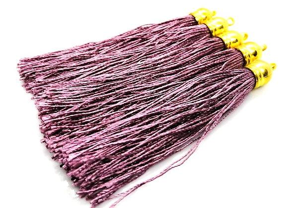 Large Polyester Tassel  - Light Purple & Gold