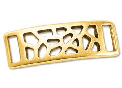The Beadsmith Gold Mesh ID Bracelet Slider- 10mm Hole