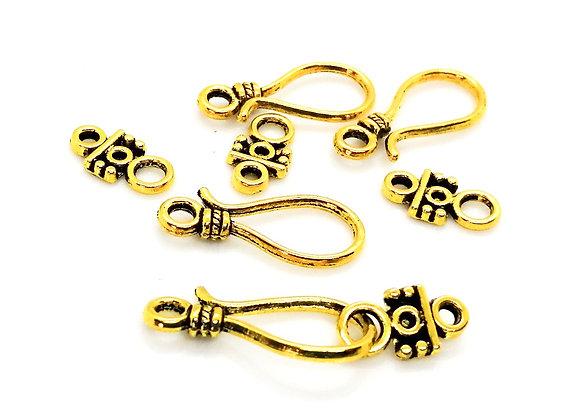 Antique Gold Hook Clasp