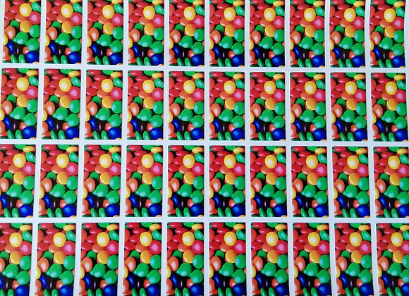 Fun Novelty Craft Stickers - Smarties - Pack of 50