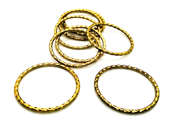 Large Linking Ring - Gold Plated Textured