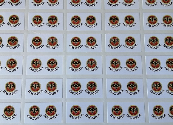 Fun Novelty Craft Stickers - Bacardi - Pack of 50