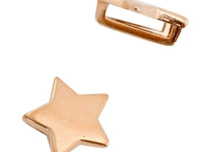 DQ Metal Slider Bead - Star - 10mm Hole - Rose Gold
