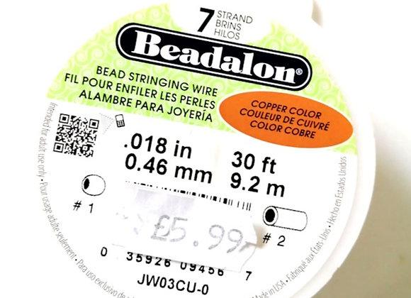 """Beadalon 7-strand Wire Copper .018"""""""