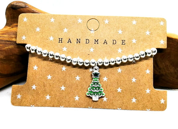 Christmas Bracelet Kit - Green Tree with Rhinestone