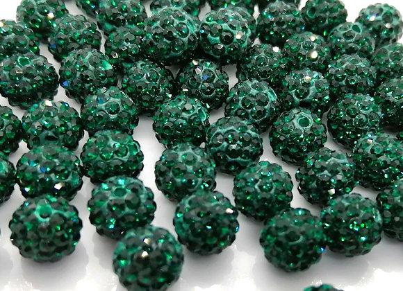 Baby Sham Dark Green Grade A Crystals 8mm