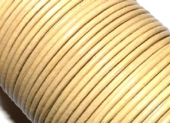Light Taupe 2mm Round Leather