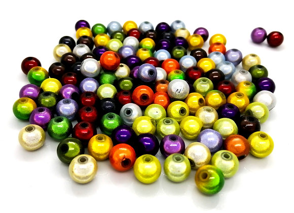 Round Miracle Beads 8mm - Autumn Mix - Pack of 50