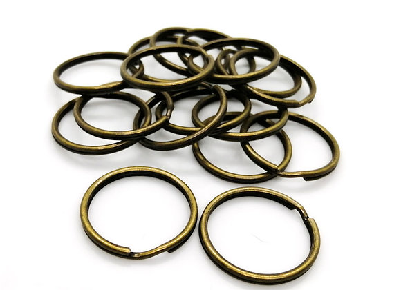 Copper Split Key Ring - Pack of 10