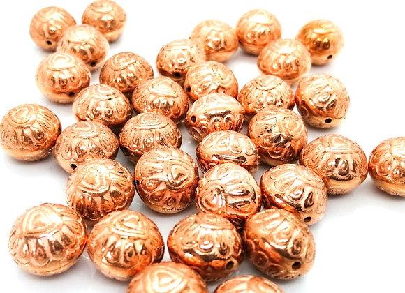 Jewellery making beads acrylic copper heart pattern bead