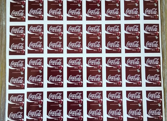 Fun Novelty Craft Stickers - Coca Cola Cherry - Pack of 50
