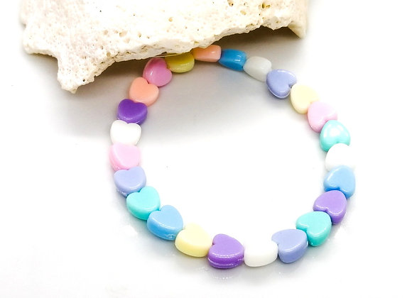 Elastic Bracelet Kit - Pastel Hearts