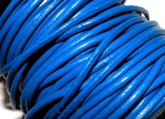 Blue Indian Round Leather 1mm