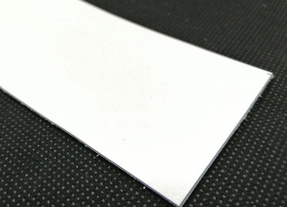 Italian Leather Strip - White 1.4mm