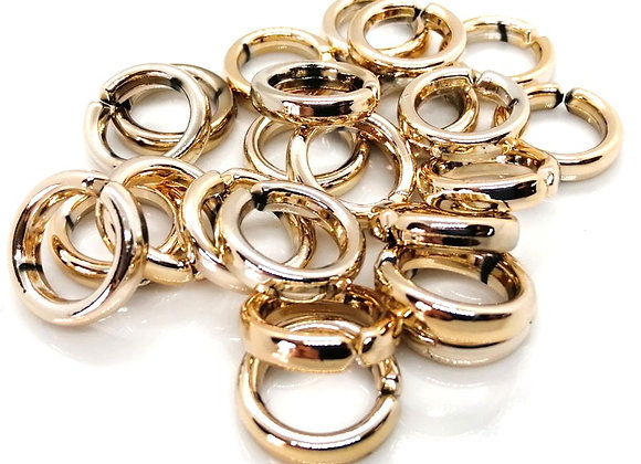 Large Soft Gold Open Jump Linking Ring - 18mm