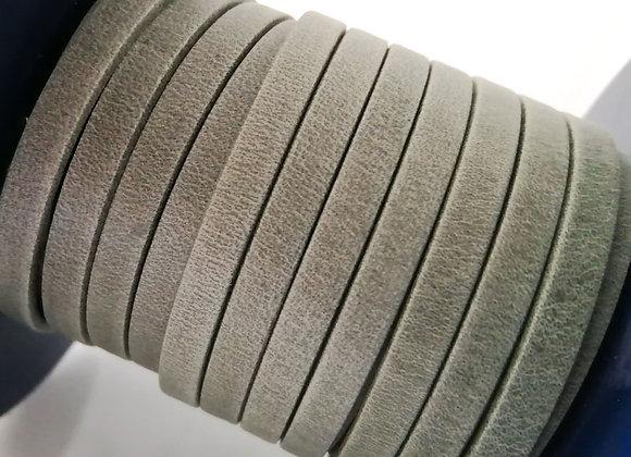 Matt Grey Flat Leather 5mm