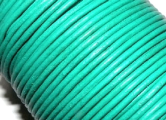 Mint Round Leather 2mm