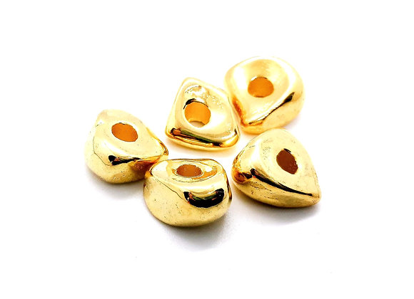 Gold Nugget Beads Large Hole