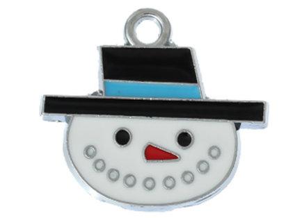 Enamelled Snowman Charm